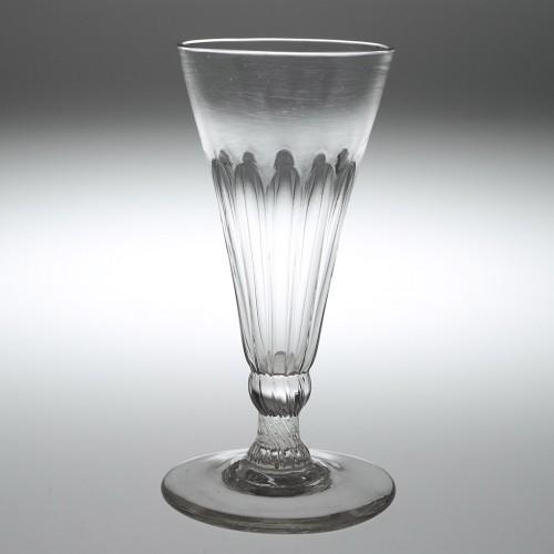 A Georgian Petal Moulded Ale Glass c1780