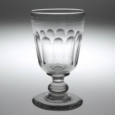 A Victorian Petal Cut Glass Rummer c1860