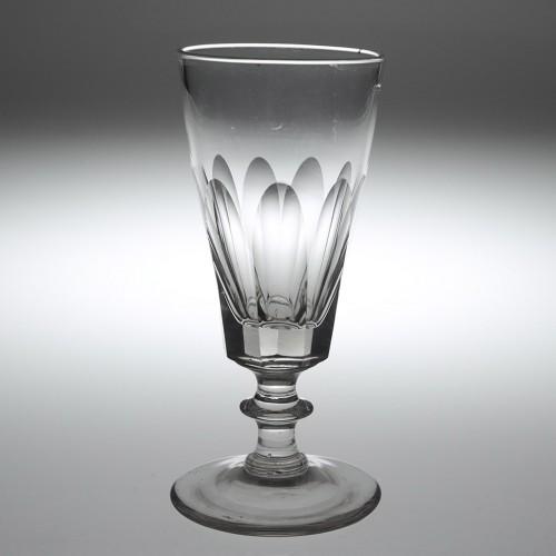 A Victorian Nonagonal Ale Glass c1850