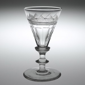 A Finely Cut 19th Century Gin Glass c1840