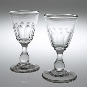 A Pair Of Victorian Tavern Gin Glasses c1880
