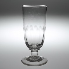 A Victorian Petal Moulded Ale Glass c1850