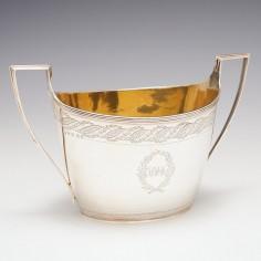 Georgian Silver Sugar Bowl - John Emes London 1799