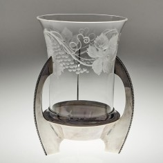 A WMF Silver Plate and Engraved Table Glass c1920