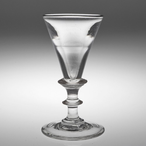 Early 19th Century Large Deceptive Dram Glass c1820