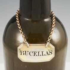 Sterling Silver Bucellas Decanter Label London 1806