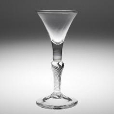 A Very Fine Composite Stem Wine Glass c1750