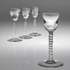 A Set Of Four Hulstkamp Zoon & Molijn Deceptive Gin Glasses c1890