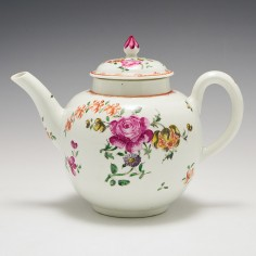 A Liverpool Philip Christian Porcelain Teapot and Cover 1770-75