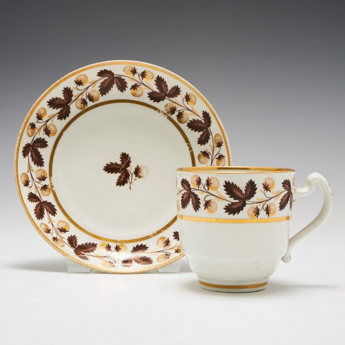 A Worcester Barr Period Coffee Cup and Saucer c1800