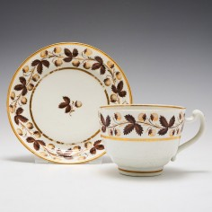 Worcester Barr Period Tea Cup and Saucer c1800