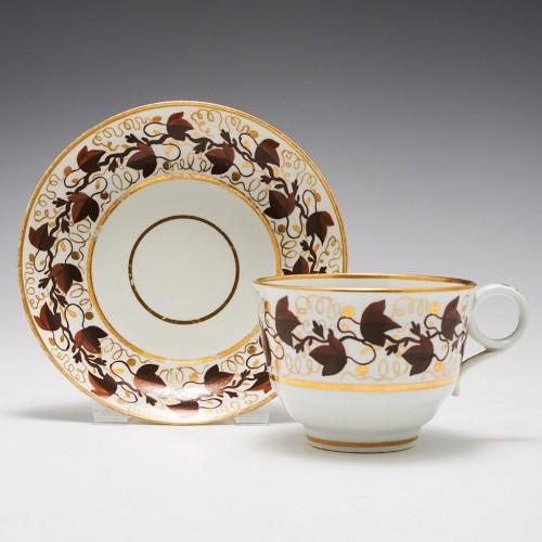 A Worcester Barr Period Porcelain Tea Cup and Saucer c1800