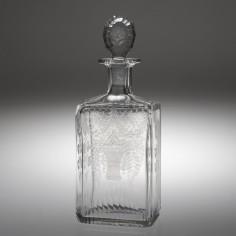 An Engraved  Box Spirit Decanter 1880