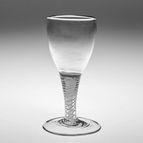 A Dutch Opaque Twist Gin Glass c1790