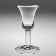 A Georgian Short Wine Glass c1740