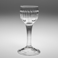 A Georgian Rib Moulded Wine Glass c1750
