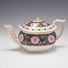 A New Hall Bone China Teapot and Cover c1820