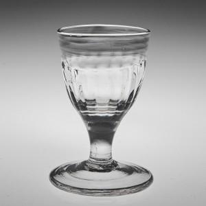 A Georgian Rib Moulded Gin Glass c1770