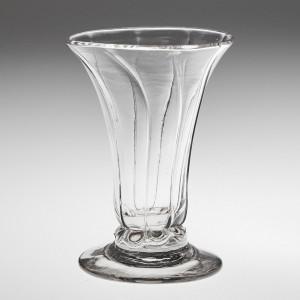 A Georgian Rib Moulded Dram Glass c1760