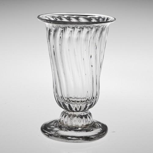 A Georgian Rib Moulded Dram Glass c1770