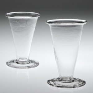 A Pair of Georgian Jelly Glasses with folded rims c1780