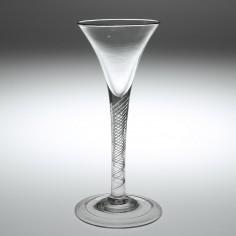 18th Century Air Twist Stem Wine Glass c1750