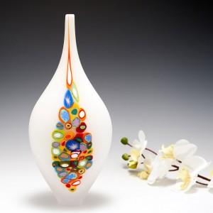A Teign Valley Glass Vase By Richard Glass