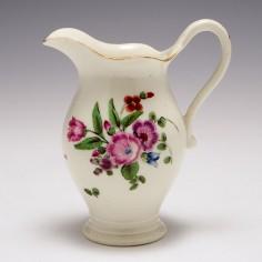 A Worcester Porcelain Outside Decorated Cream Jug c1770