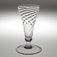 A Georgian Wrythen Ale Glass Circa 1770