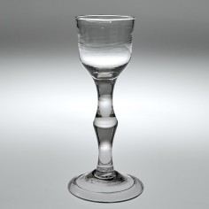 A Georgian Balustroid Wine Glass c1740