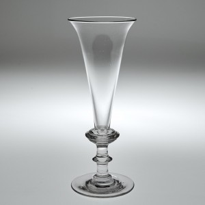 Georgian Champagne Flute with Annulated Knop c1820