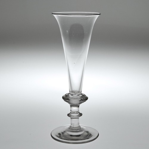 A Champagne Flute with Annulated Knop c1820