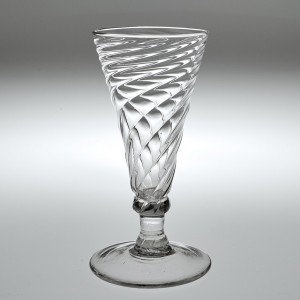 Georgian Wrythen Ale Glass c1770