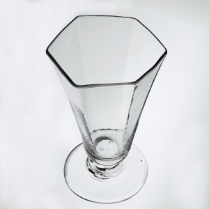 A Georgian Hexagonal Panel Moulded Jelly Glass c1770