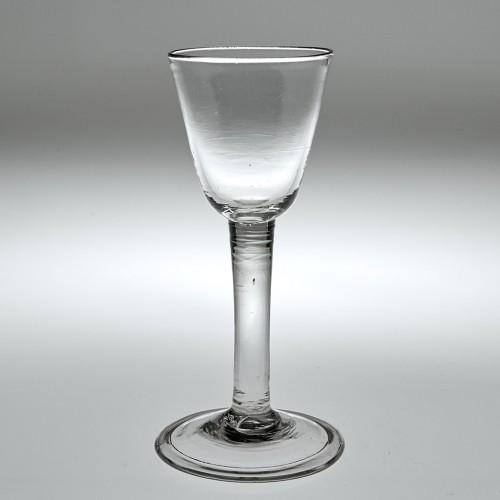 18th Century Plain Stem Wine Glass c1745