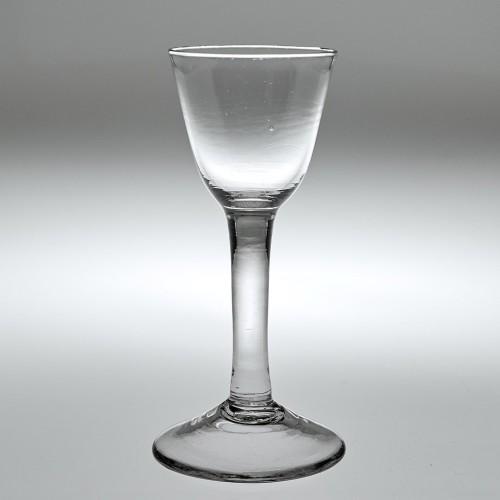 Georgian Plain Stem Wine Glass c1750