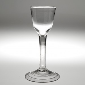 A Mid 18th Century Wine Glass c1750