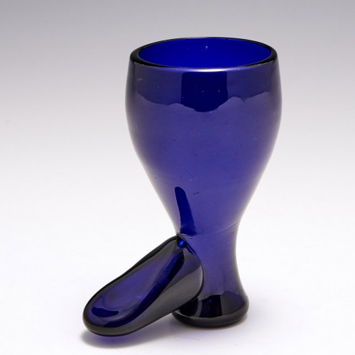 Bristol Blue Boot Glass c1800