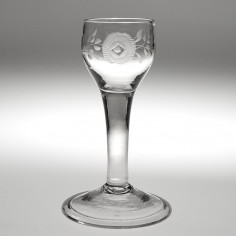 A Georgian Short Wine Glass c1750
