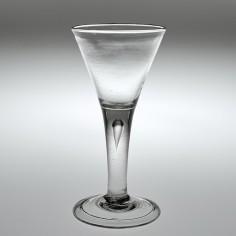 A Georgian Wine Glass With Teardrop Stem c1745