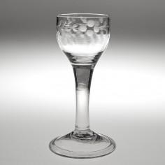 An Engraved Georgian Wine Glass c.1750