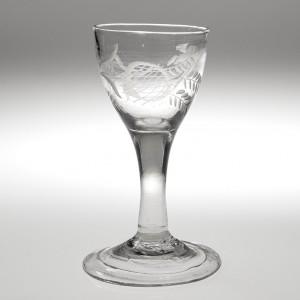 An Engraved Gin Glassc1750
