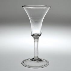 A Very Fine Georgian Bell Bowl Wine Glass c1745