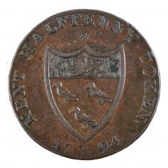 Sussex  & Kent Conder Token, Gibb's, Lamberhurst, Copper Halfpenny, 1794