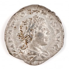 Roman Empire Elagabalus, Silver Denarius, Fides Militum, AD 219