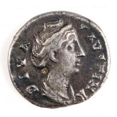 Roman Empire, Faustina Senior (Wife of Antoninus Pius) Silver Denarius,  after AD 147