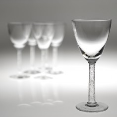 A Set Of Six Post War Lalique Phalsbourg Wine Glasses Designed In 1924