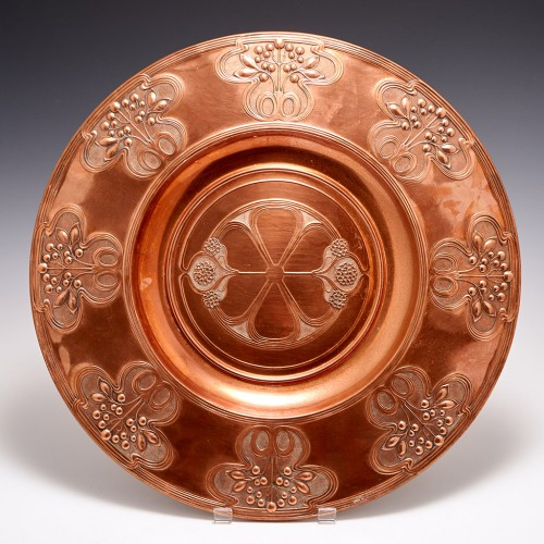 A Large WMF Jugendstil Copper Charger c1900