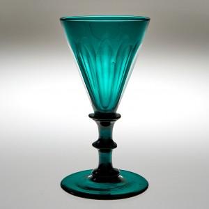 Petal Cut  Wine Glass c1830