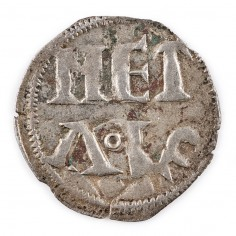 French 1 Denier, Carolingian, Charles the Simple (AD 879-929) Melle Mint c897